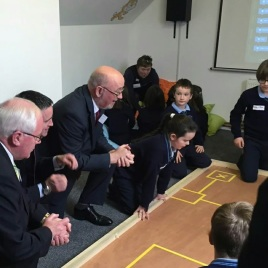 All party coalition learning to program a robot