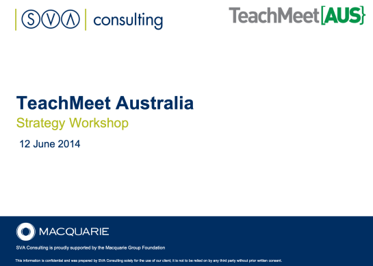 TeachMeet[AUS} report cover